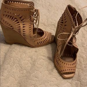 Jeffrey Campbell cut out wedge